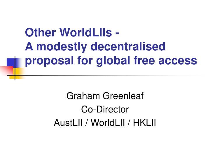 Other WorldLIIs -