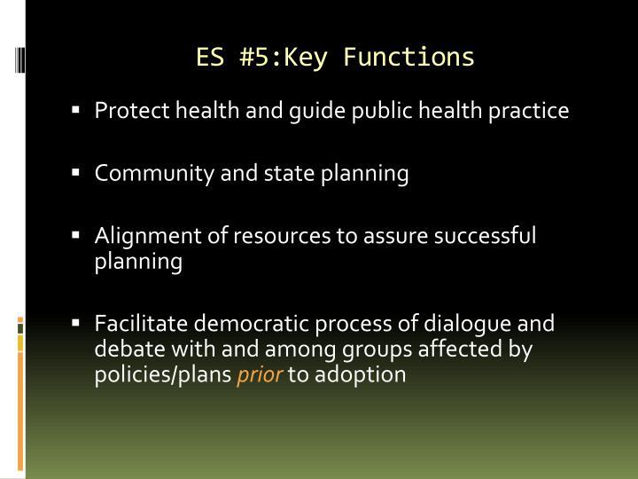 ES #5:Key Functions