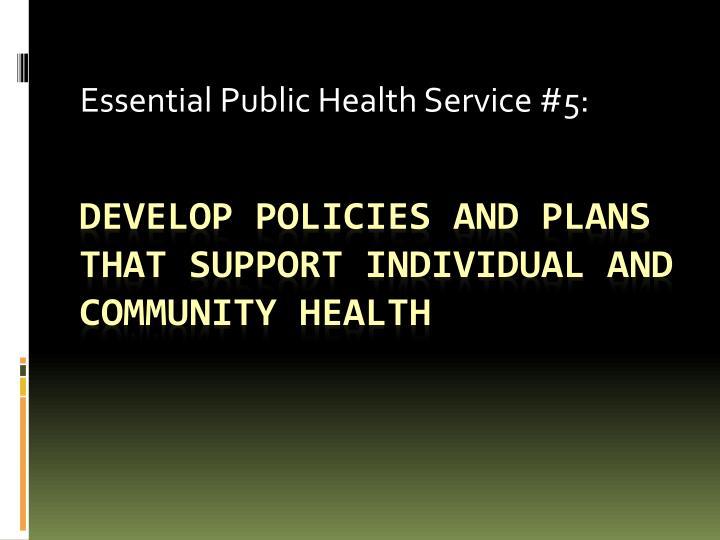 Essential Public Health Service #5: