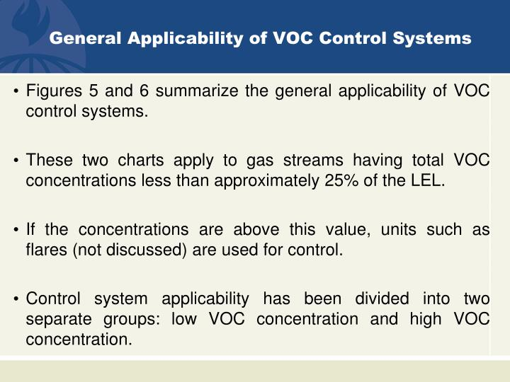 General Applicability of VOC Control Systems