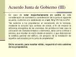 acuerdo junta de gobierno iii