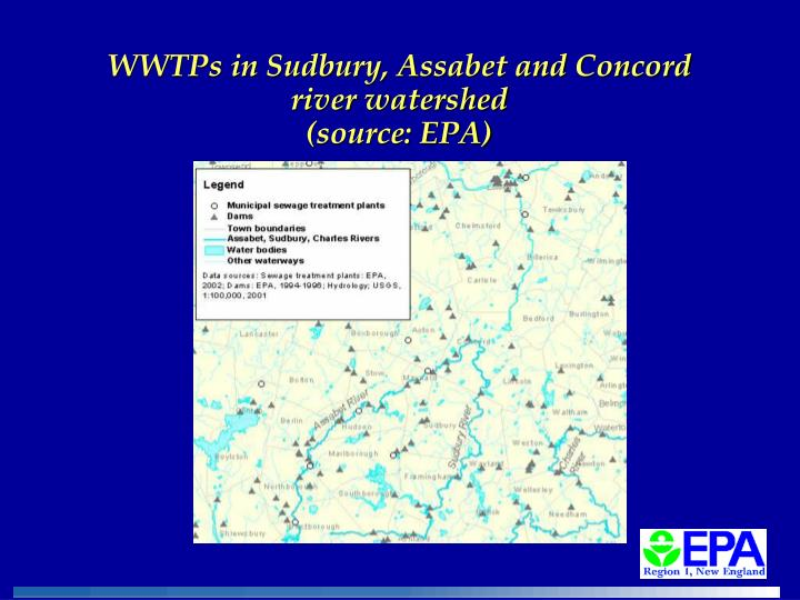 WWTPs in Sudbury, Assabet and Concord