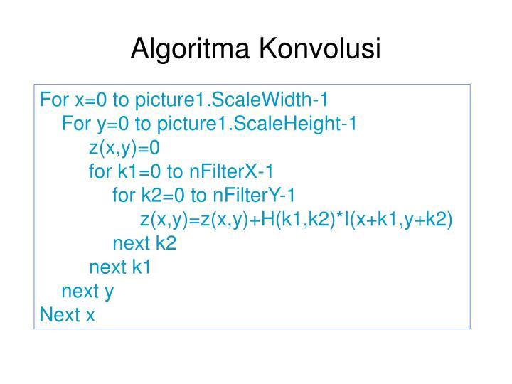 Algoritma Konvolusi