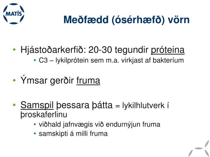 Meðfædd (ósérhæfð) vörn