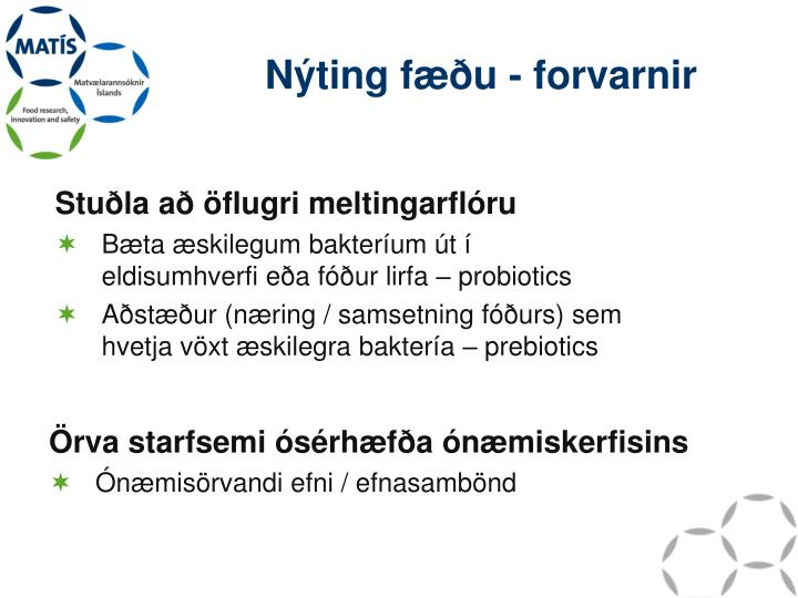 Nýting fæðu - forvarnir