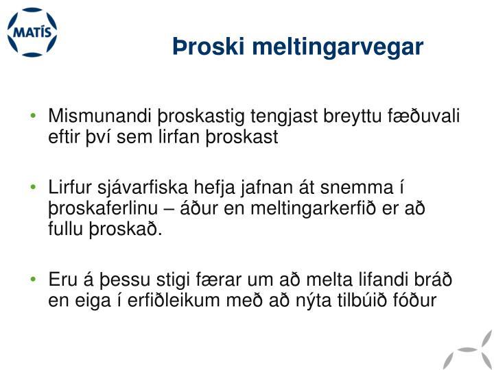 Þroski meltingarvegar