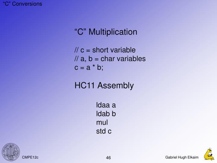 """C"" Conversions"