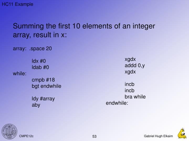 HC11 Example