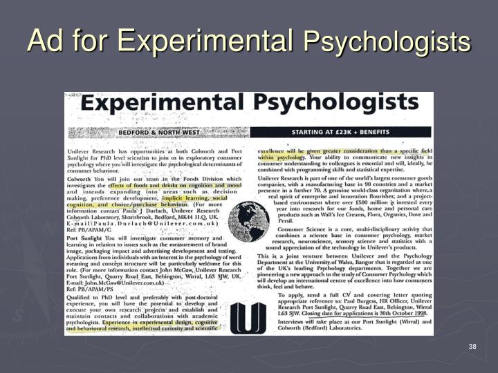 Ad for Experimental