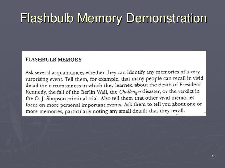 Flashbulb Memory Demonstration