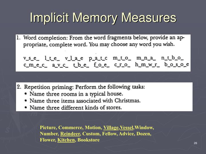 Implicit Memory Measures