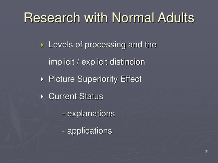 Research with Normal Adults