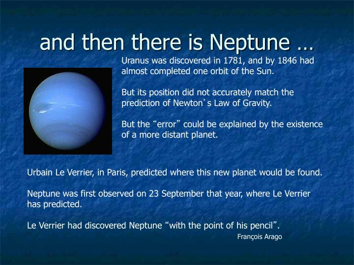 and then there is Neptune …