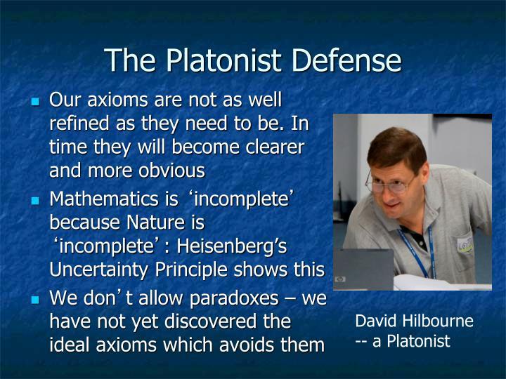 The Platonist Defense