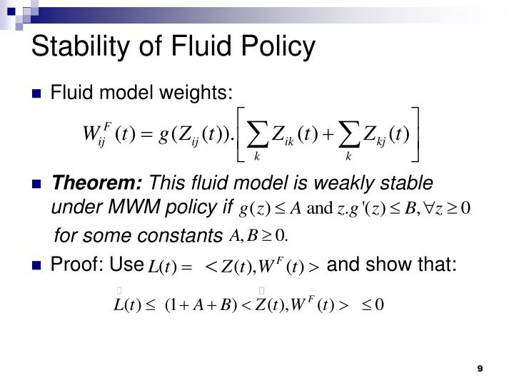 Stability of Fluid Policy