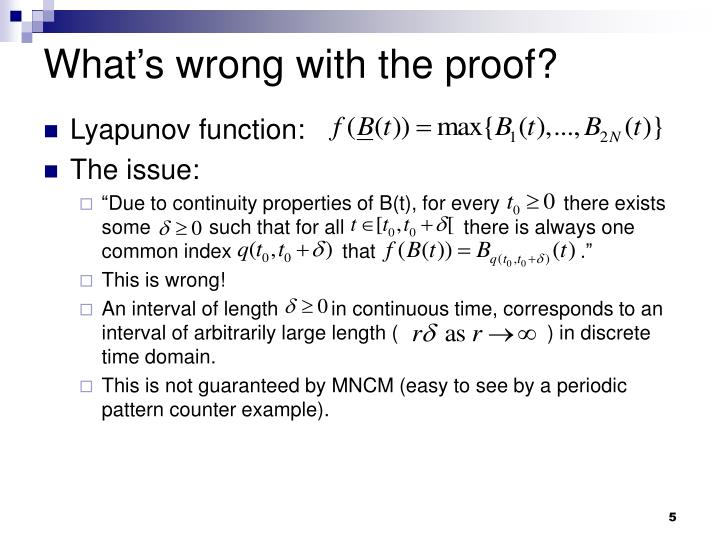 What's wrong with the proof?