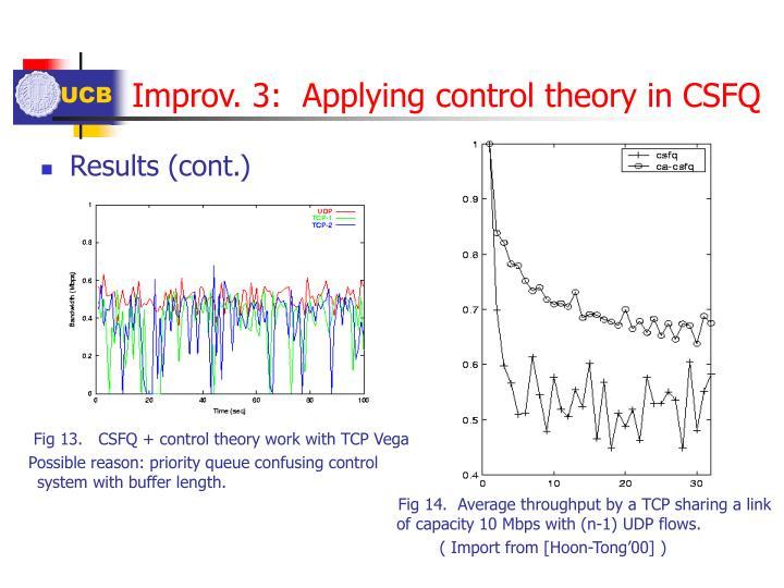 Improv. 3:  Applying control theory in CSFQ