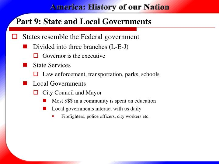 Part 9: State and Local Governments