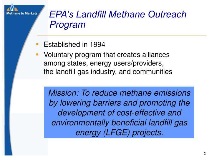 EPA's Landfill Methane Outreach Program