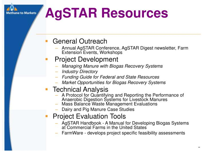 AgSTAR Resources