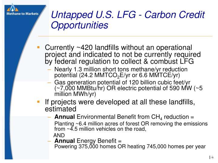 Untapped U.S. LFG - Carbon Credit Opportunities