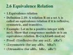 2 6 equivalence relation