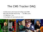 the cms tracker daq