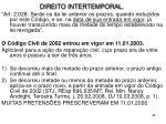 direito intertemporal