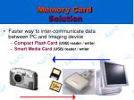 memory card solution