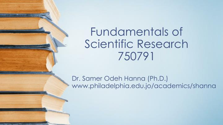 Fundamentals of scientific research 750791