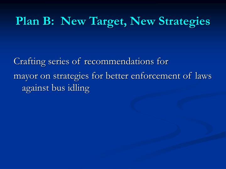 Plan B:  New Target, New Strategies