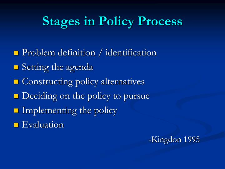 Stages in Policy Process