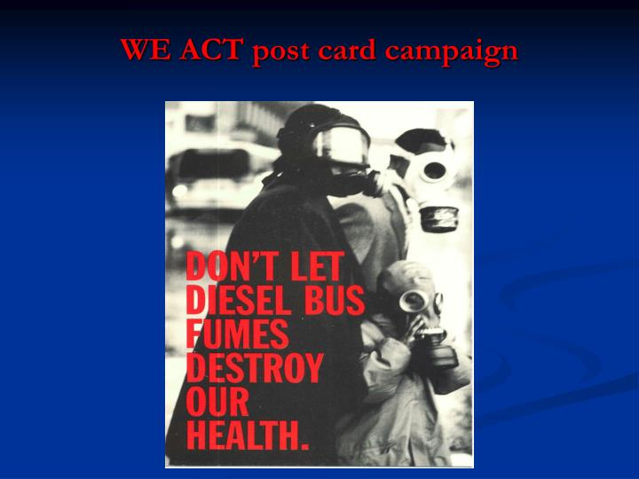 WE ACT post card campaign