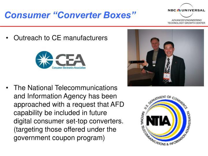 """Consumer """"Converter Boxes"""""""