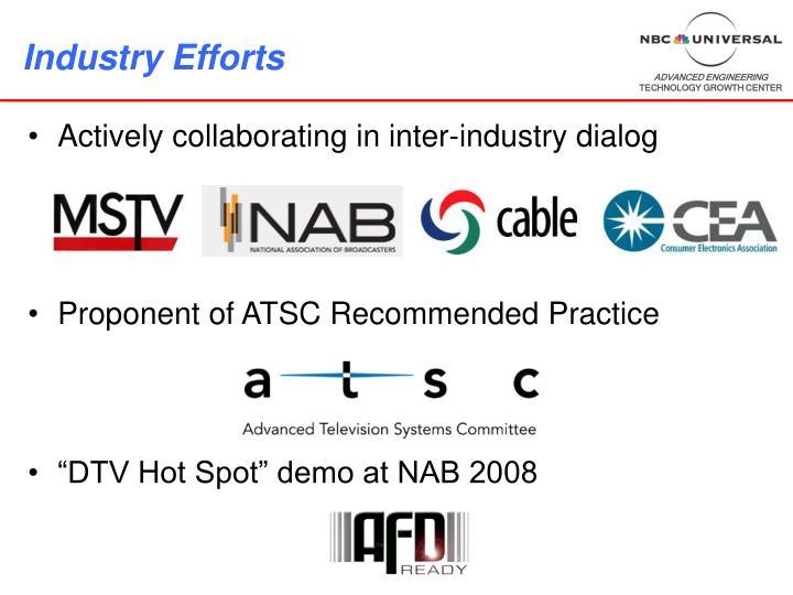Industry Efforts