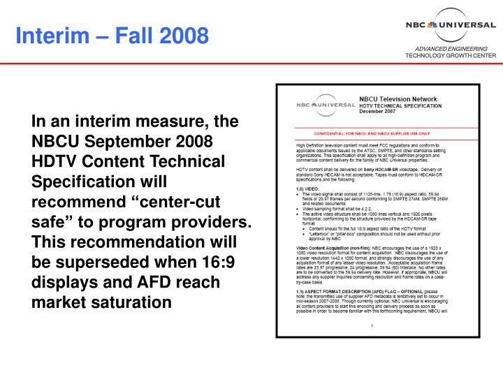 Interim – Fall 2008