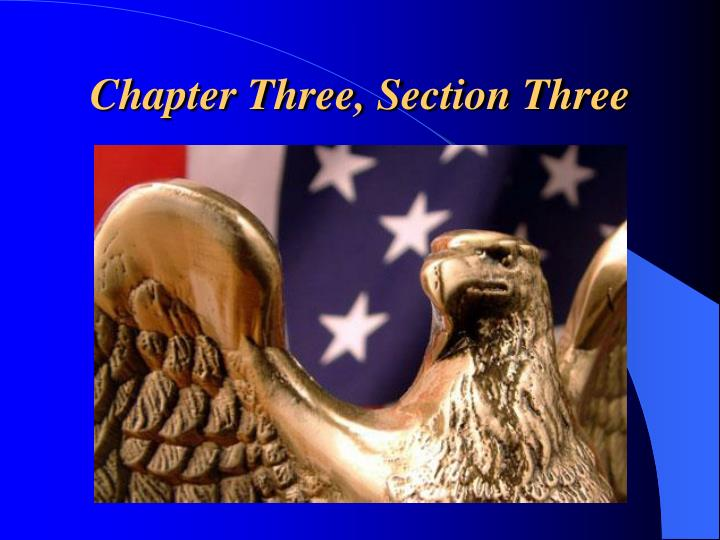 Chapter three section three