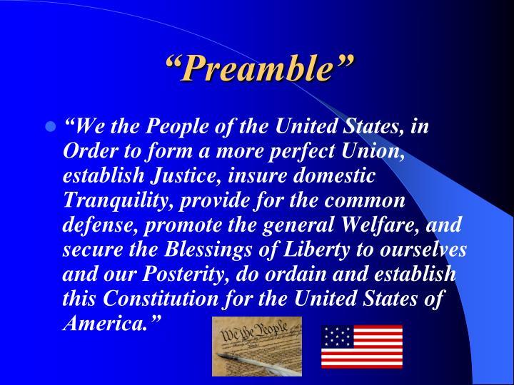 """""""Preamble"""""""