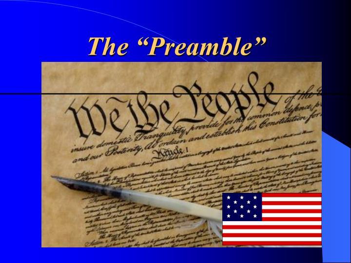 """The """"Preamble"""""""