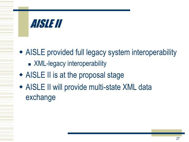 AISLE II