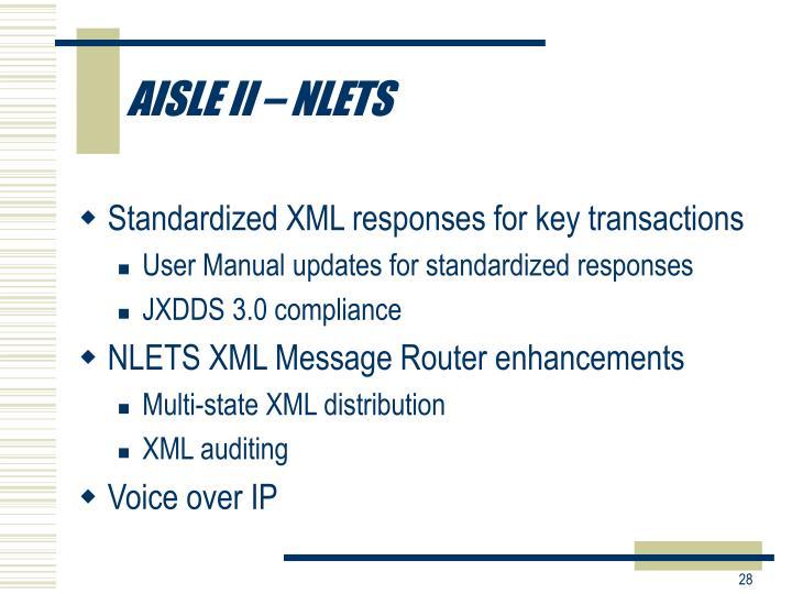 AISLE II – NLETS