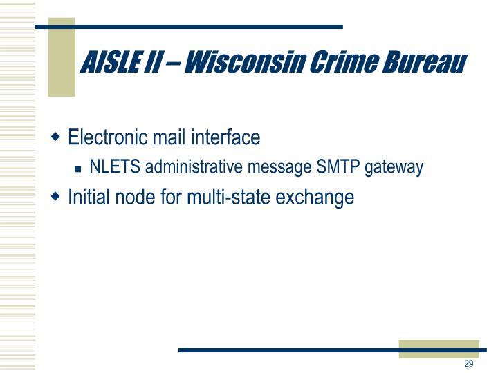 AISLE II – Wisconsin Crime Bureau