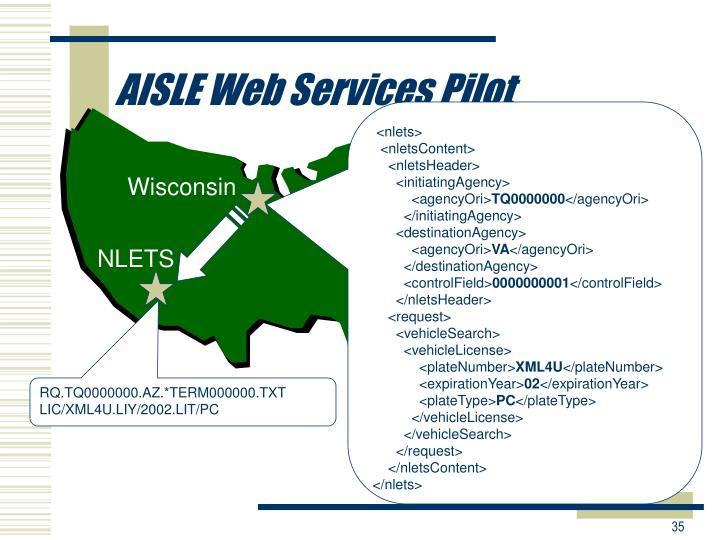 AISLE Web Services Pilot