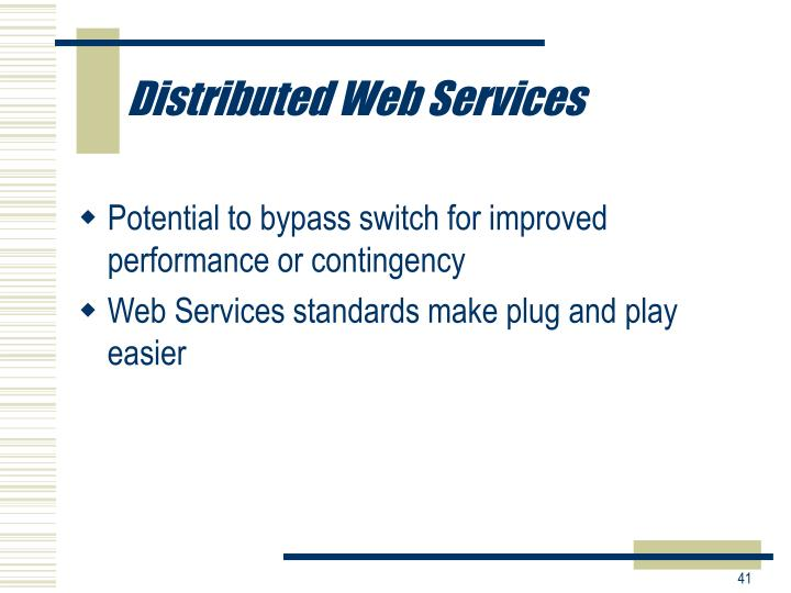 Distributed Web Services