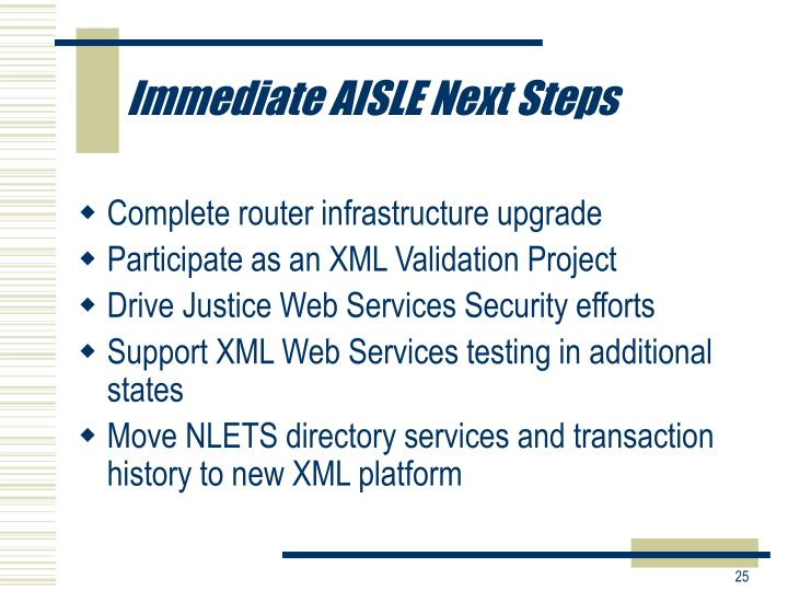 Immediate AISLE Next Steps