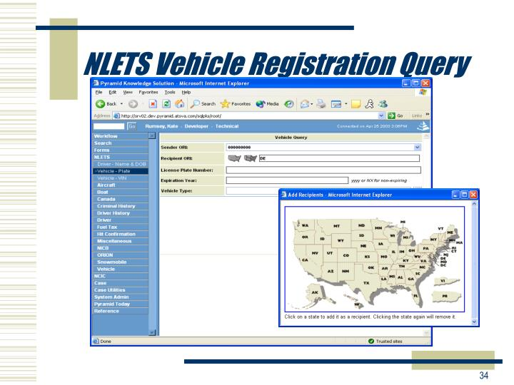 NLETS Vehicle Registration Query