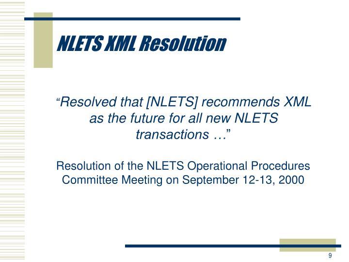 NLETS XML Resolution