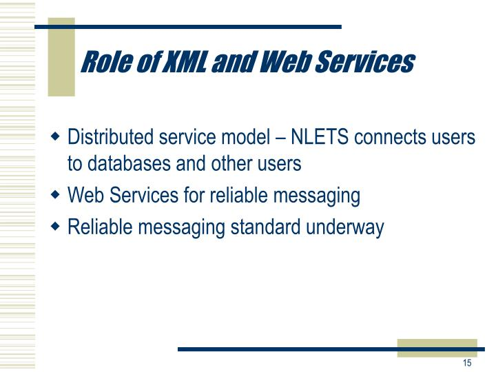 Role of XML and Web Services