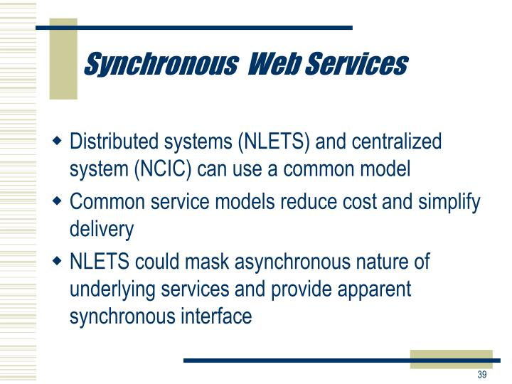Synchronous  Web Services