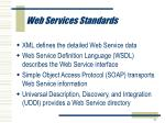web services standards